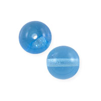 Czech Pressed Glass Round Beads 6mm Aqua (10-Pcs)