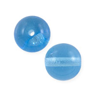 Czech Pressed Glass Round Beads 8mm Aqua (10-Pcs)