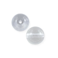 Czech Pressed Glass Round Beads 4mm Crystal (10-Pcs)
