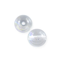 Czech Pressed Glass Round Beads 4mm Crystal AB (10-Pcs)