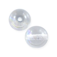 Czech Pressed Glass Round Beads 8mm Crystal AB (10-Pcs)