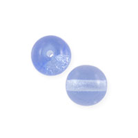 Czech Pressed Glass Round Beads 4mm Light Sapphire (10-Pcs)