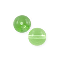 Czech Pressed Glass Round Beads 4mm Peridot (10-Pcs)