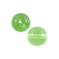 Czech Pressed Glass Round Beads 6mm Peridot (10-Pcs)
