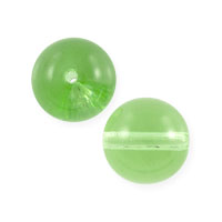 Czech Pressed Glass Round Beads 8mm Peridot (10-Pcs)