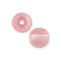 Czech Pressed Glass Round Beads 6mm Rosaline (10-Pcs)