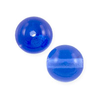 Czech Pressed Glass Round Beads 8mm Sapphire (10-Pcs)
