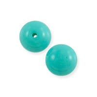 Czech Pressed Glass Round Beads 6mm Turquoise (10-Pcs)