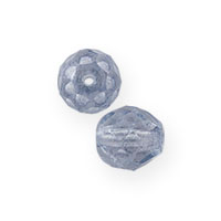 Blue Luster Czech Fire Polished Rounds 4mm (10-Pcs)