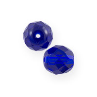 Czech Fire Polished Rounds 4mm Cobalt (10-Pcs)