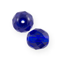 Czech Fire Polished Rounds 6mm Cobalt (10-Pcs)