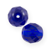 Czech Fire Polished Rounds 8mm Cobalt (10-Pcs)