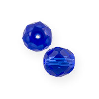 Czech Fire Polished Rounds 4mm Sapphire (10-Pcs)