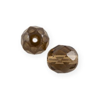 Czech Fire Polished Rounds 4mm Smokey Topaz (10-Pcs)