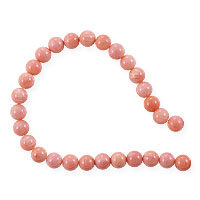 Dyed Pink Coral Round Beads 5-6mm (15 Inch Strand)
