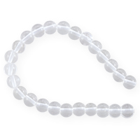 Crystal Quartz Round Beads 6mm (15