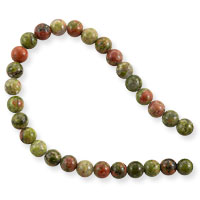 Unakite 4mm Round Beads (15.5