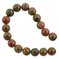 Unakite Round Beads 8mm (15.5