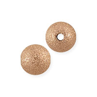 Stardust Bead 6mm Rose Gold Filled (1-Pc)