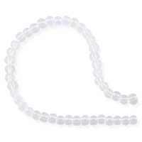Crystal Synthetic Quartz Round Beads 3mm (16