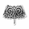 Scrollwork Bail 17x20mm Pewter Antique Silver Plated (1-Pc)