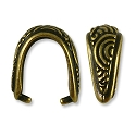 TierraCast Small Spiral Pinch Bail 15x13mm Pewter Antique Brass Plated (1-Pc)