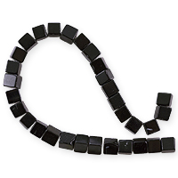 Black Agate Square Beads 4mm (16