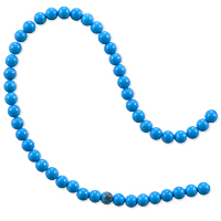Blue Turquoise Round Beads 4mm (15