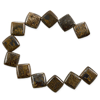 Bronzite Puffed Kite Beads 10mm (8