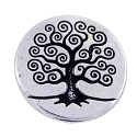 TierraCast Tree of Life Button 15.5mm Pewter Antique Silver Plated (1-Pc)