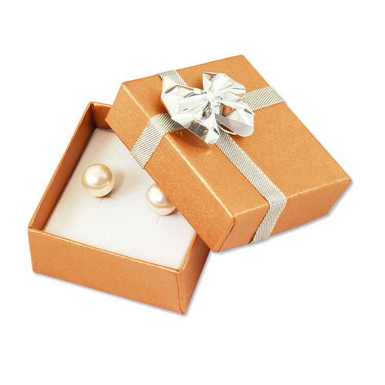 bow tie small earring box copper. Black Bedroom Furniture Sets. Home Design Ideas