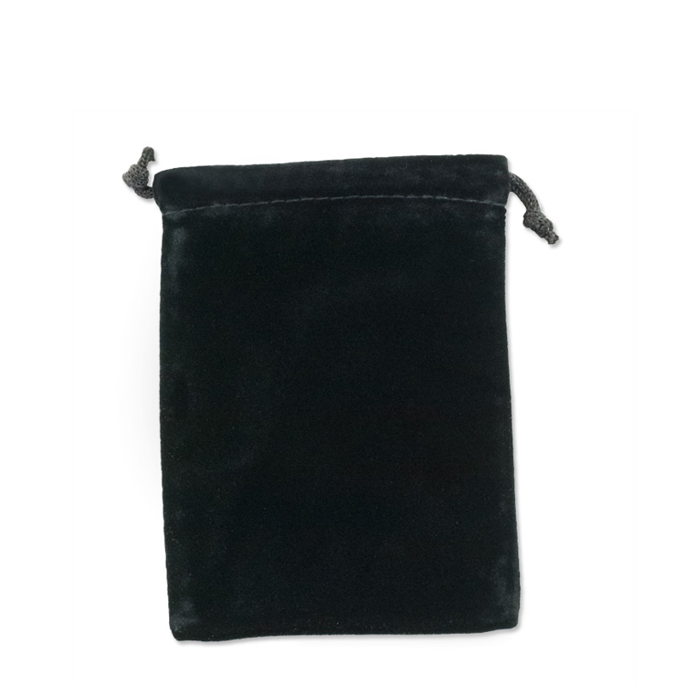 Velvet Drawstring Pouch 2 3 4 X Black Each