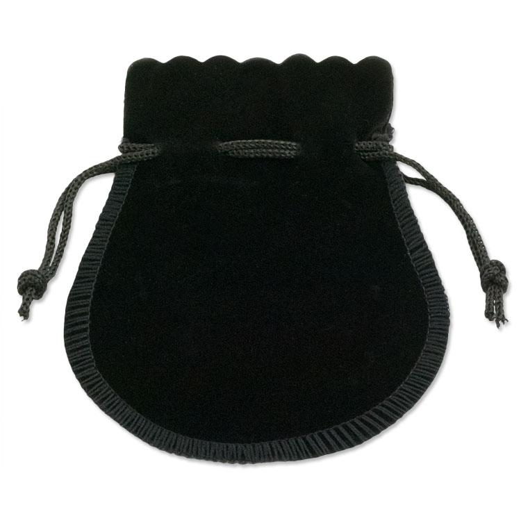 Velvet Drawstring Bell Pouch 3 1 2 X Black Dozen