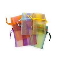 Organza Pouch Small Stripes Mix (12-Pcs)