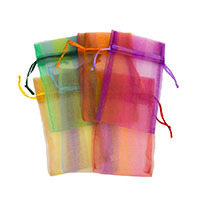 Organza Pouch Medium Stripes Mix (12-Pcs)