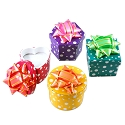 Two Piece Ring Boxes - Polka Dots (48-Pcs)