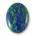 Azurite Oval Cabochon 25x18mm Synthetic