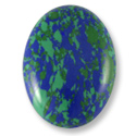 Azurite Oval Cabochon 30x22mm Synthetic