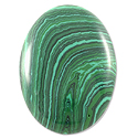 Malachite Oval Cabochon 25x18mm Synthetic