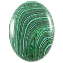 Malachite Oval Cabochon 30x22mm Synthetic
