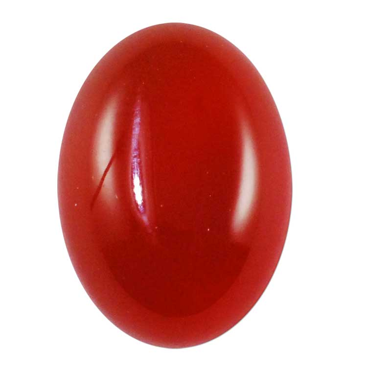 red agate cabochon 14x10mm