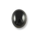 Black Onyx Oval Cabochon 9x7mm