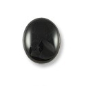 Black Onyx Oval Cabochon 10x8mm