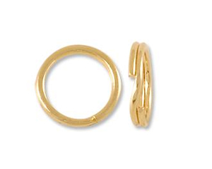 14 karat gold split rings