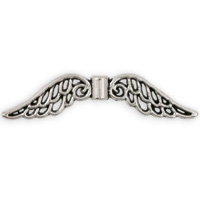 Angel Wing Pewter Beads