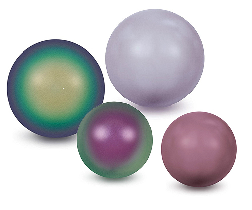 Purple Round Crystal Pearls