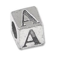 Alphabet Pewter Beads