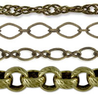 Antique Brass Plated Bulk Chain