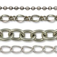 Antique Silver Plated Bulk Chain