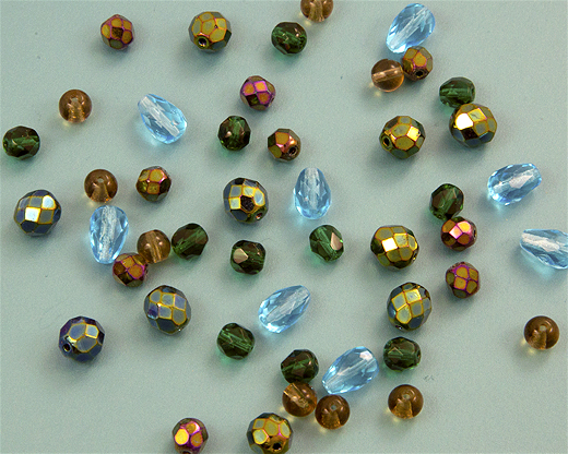 Czech Glass Beads and Fire Polished Beads